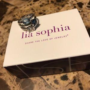 Like New! Lia Sophia Blue Bayou Ring
